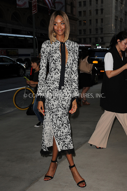 www.acepixs.com<br /> September 8, 2016  New York City<br /> <br /> Jourdan Dunn attending the The Daily Front Row's 4th Annual Fashion Media Awards at Park Hyatt New York on September 8, 2016 in New York City. <br /> <br /> <br /> Credit: Kristin Callahan/ACE Pictures<br /> <br /> <br /> Tel: 646 769 0430<br /> Email: info@acepixs.com