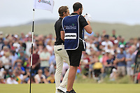 Joakim Lagergren (SWE) finishes on the 18th green during Sunday's Final Round of the 2018 Dubai Duty Free Irish Open, held at Ballyliffin Golf Club, Ireland. 8th July 2018.<br /> Picture: Eoin Clarke   Golffile<br /> <br /> <br /> All photos usage must carry mandatory copyright credit (&copy; Golffile   Eoin Clarke)