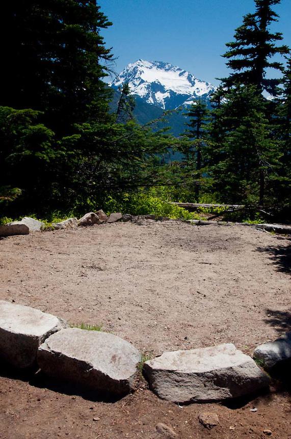 Desolation Peak Campsite, North Cascades National Park, Washington, US