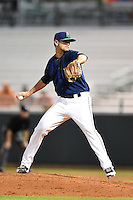Cedar Rapids Kernels pitcher Dallas Gallant (32) delivers a pitch during a game against the Quad Cities River Bandits on August 18, 2014 at Perfect Game Field at Veterans Memorial Stadium in Cedar Rapids, Iowa.  Cedar Rapids defeated Quad Cities 4-2.  (Mike Janes/Four Seam Images)