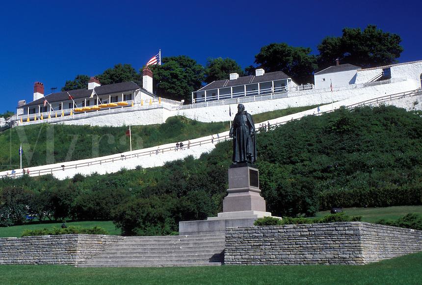 Fort Mackinac, Mackinac Island, MI, Lake Huron, Michigan, Mackinac Island State Park, Fort Mackinac on Mackinac Island.
