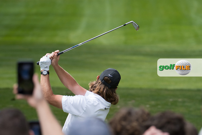 Tommy Fleetwood (ENG) in action on the 6th hole during final round at the Omega European Masters, Golf Club Crans-sur-Sierre, Crans-Montana, Valais, Switzerland. 01/09/19.<br /> Picture Stefano DiMaria / Golffile.ie<br /> <br /> All photo usage must carry mandatory copyright credit (© Golffile | Stefano DiMaria)