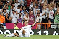 MADRID, ESPANHA, 29 AGOSTO 2012 - SUPERCUP DA ESPANHA -  REAL MADRID X BARCELONA - Cristiano Ronaldo jogador do Real Madrid durante contra o Barcelona na final da da Supercup da Espanha contra o Barcelona em , no estadio Santiago Bernabeu, em Madri na Espanha, nesta quarta-fera, 29. (FOTO: ALFAQUI / BRAZIL PHOTO PRESS).