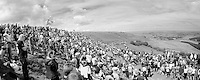 Holme Moss Hill (521m/4.7km/7%) panorama<br /> <br /> 2014 Tour de France<br /> stage 2: York-Sheffield (201km)