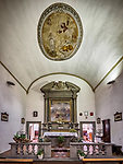 Nave and altar, Chiesa SS. Annunziata, Church of the Annunciation, Vinci, Tuscano, Italy