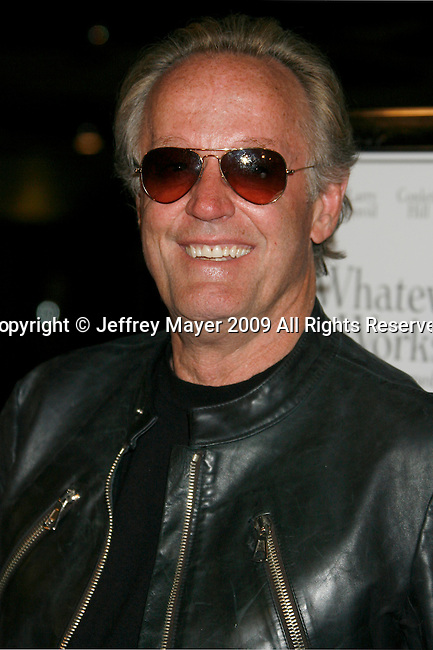 "WEST HOLLYWOOD, CA. - June 08: Actor Peter Fonda  arrives at the Los Angeles premiere of ""Whatever Works"" at the Pacific Design Center on June 8, 2009 in West Hollywood, California."