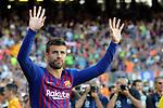 53e Trofeu Joan Gamper.<br /> Presentation 1st team FC Barcelona.<br /> Gerard Pique.