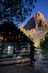 Larson homestead cabin, along the Taylor Creek trail, Kolob Canyons, Zion National Park, UTAH