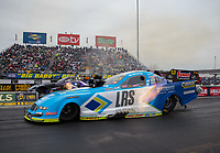 Mar 17, 2019; Gainesville, FL, USA; NHRA funny car driver Tim Wilkerson during the Gatornationals at Gainesville Raceway. Mandatory Credit: Mark J. Rebilas-USA TODAY Sports