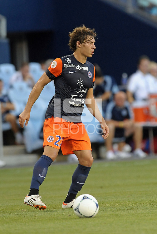 Benjamin Stambouli (22) midfield Montpellier in action..Sporting Kansas City were defeated 3-0 by Montpellier HSC in an international friendly at LIVESTRONG Sporting Park, Kansas City, KS..