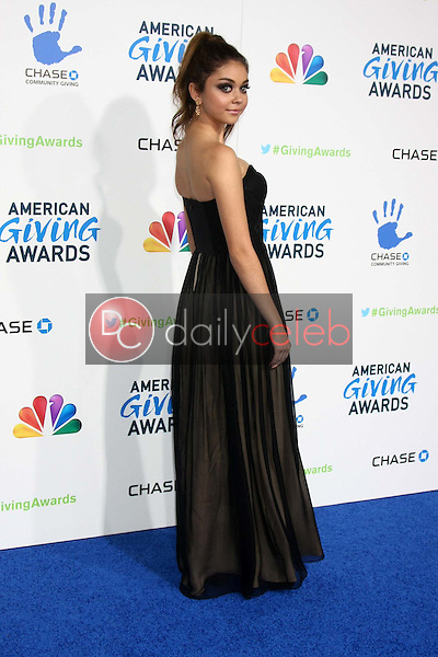 LOS ANGELES - DEC 7:  Sarah Hyland arrives to the 2012 American Giving Awards at Pasadena Civic Center on December 7, 2012 in Pasadena, CA