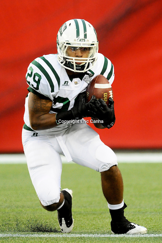 September 29, 2012 Ohio Bobcats running back Kyle Hammonds (29) during the UMass Minutemen vs Ohio Bobcats NCAA football game played at Gillette Stadium in Foxborough, Massachusetts. Final score Ohio 37  UMass 34  Eric Canha/CSM