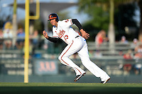 Baltimore Orioles infielder Manny Machado (13) during a Spring Training game against the Atlanta Braves on April 3, 2015 at Ed Smith Stadium in Sarasota, Florida.  Baltimore defeated Atlanta 3-2.  (Mike Janes/Four Seam Images)