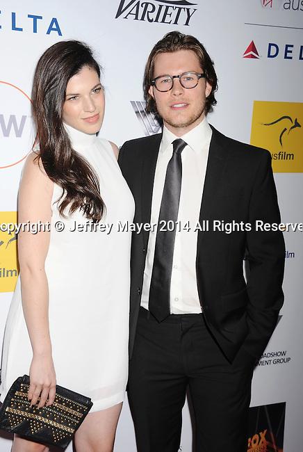 SANTA MONICA, CA- OCTOBER 26: Actors Tanya Zucker (L) and Will Howarth attend the 3rd Annual Australians in Film Awards Benefit Gala at the Fairmont Miramar Hotel on October 26, 2014 in Santa Monica, California.