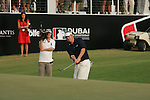 Dubai World Championship Golf. Earth Course,.Jumeirah Golf Estate, Dubai, U.A.E...Ross McGowan chips onto the 18th green to finish the final round at the Dubai World Golf championship..Photo: Fran Caffrey/www.golffile.ie...