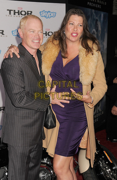 HOLLYWOOD, CA - NOVEMBER 04: Neal McDonough; Ruve Robertson at the Los Angeles Premiere 'Thor: The Dark World' at the El Capitan Theatre on November 4, 2013 in Hollywood, California, USA.<br /> CAP/ROT/TM<br /> &copy;Tony Michaels/Roth Stock/Capital Pictures