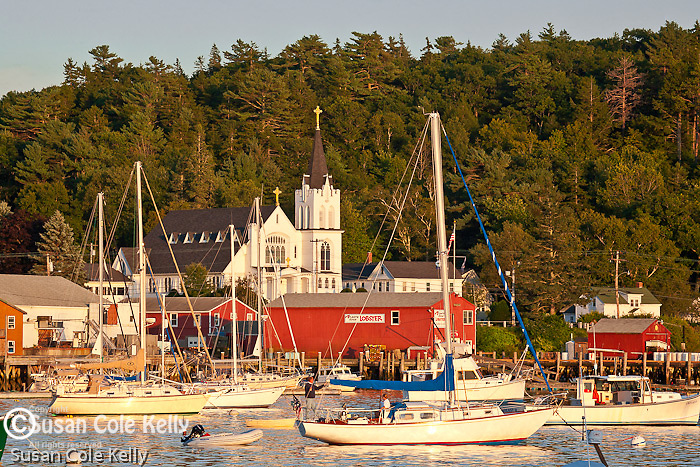 Sunset in Boothbay Harbor, ME