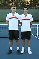 STANFORD, CA - NOVEMBER 16:  Paul Morrissey and Richard Wire of the Stanford Cardinal during photo day on November 16, 2009 at the Taube Family Tennis Stadium in Stanford, California.
