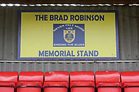Brad Robinson Memorial Stand signage during Barking vs South Park, BetVictor League South Central Division Football at Mayesbrook Park on 7th March 2020