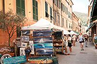 Street scenes in the village of Levanto, Liguria, Italy