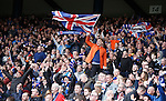 Rangers fans celebrate at the end