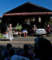 Akiko's Bed and Breakfast Mochi Pounding New Year's Event 2012 featuring Hui Okinawa Kobudo Taiko and Shizuno Nasu performing the Okinawan Dragon Dance, Big Island.