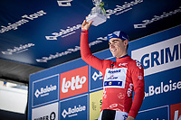 Fabio Jakobsen (NED/Deceuninck Quick Step) on podium as leader in the points classification. <br /> <br /> Baloise Belgium Tour 2019<br /> Stage 3: ITT Grimbergen – Grimbergen 9.2km<br /> ©kramon