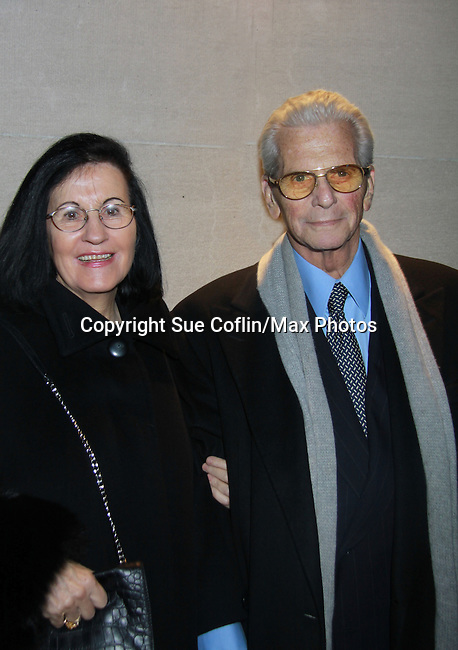 Pual rausch and wife Israela - Actors, crew, production, family come to One Life To Live's wrap party and video tribute on November 18, 2011 at Capitale, New York City, New York.  (Photo by Sue Coflin/Max Photos)