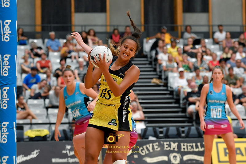Pulse&rsquo; Aliyah Dunn in action during the  Preseason Tournament - Pulse v Steel at Ngā Purapura, Otaki, New Zealand on Sunday 10 February  2019. <br /> Photo by Masanori Udagawa. <br /> www.photowellington.photoshelter.com