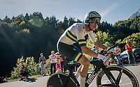 Rohan Dennis (AUS/BMC)<br /> <br /> MEN ELITE INDIVIDUAL TIME TRIAL<br /> Hall-Wattens to Innsbruck: 52.5 km<br /> <br /> UCI 2018 Road World Championships<br /> Innsbruck - Tirol / Austria
