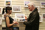 Erin O'Connor of Frames Unlimited with Eric at the Launch of Eric O'Neill's exhibition...Photo NEWSFILE/Jenny Matthews.(Photo credit should read Jenny Matthews/NEWSFILE)....This Picture has been sent you under the condtions enclosed by:.Newsfile Ltd..The Studio,.Millmount Abbey,.Drogheda,.Co Meath..Ireland..Tel: +353(0)41-9871240.Fax: +353(0)41-9871260.GSM: +353(0)86-2500958.email: pictures@newsfile.ie.www.newsfile.ie.FTP: 193.120.102.198.