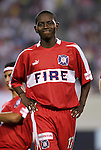11 July 2004: Dipsy Selolwane. The Chicago Fire tied the New England Revolution 1-1 at Soldier Field in Chicago, IL during a regular season Major League Soccer game..