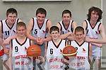 SKILLS: The Kenmare team that showed their skills in the Community Games basketball finals in Castleisland on Sunday were l-r: Gearoid Randles, Gavin Crowley, Patrick Moriarty, John Spillane, Colm O'Sullivan, Brian Crowley and Brian Clifford.