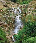 USA, California, San Diego.  A waterfall in Mission Trails Regional Park.