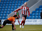 Aimee Palmer of Sheffield Utd reacts to a missed chance during the The FA Women's Championship match at the Proact Stadium, Chesterfield. Picture date: 8th December 2019. Picture credit should read: Simon Bellis/Sportimage