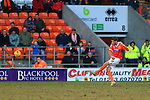 Blackpool's Andrea Orlandi scores his sides second goal - Blackpool vs. Nottingham Forest - Skybet Championship - Bloomfield Road - Blackpool - 14/02/2015 Pic Philip Oldham/Sportimage