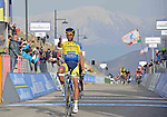 Alberto Contador (ESP) Tinkoff-Saxo wins Stage 4 of the 2014 Tirreno-Adriatico, a mountain stage running from Indicatore to Cittareale (244 km). 15th March 2014.      <br /> Photo: Gian Mattia D'Alberto/LaPresse/www.newsfile.ie