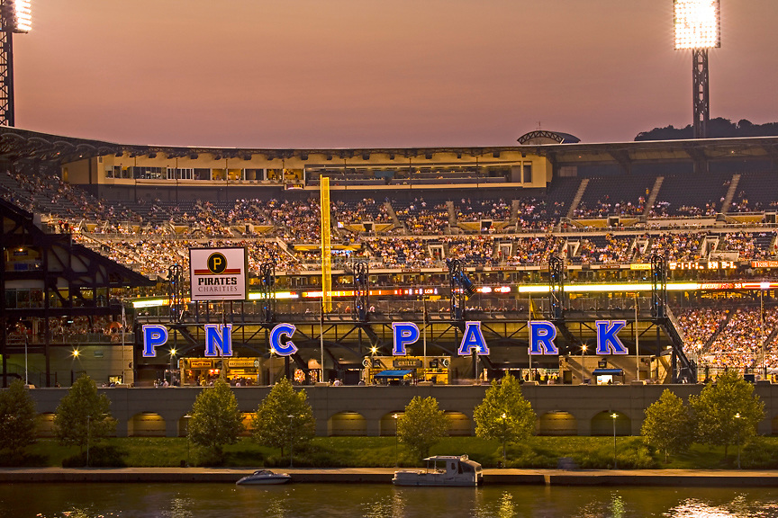 Pittsburgh's Sports Venues - PNC Park at Dusk
