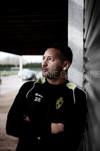 Franco-Moroccan football player Rachid Bourabia (Belgium, 11/02/2014)