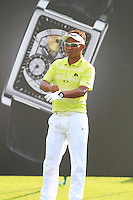 Thongchai Jaidee (THA) on the 11th tee during Round 3 of the Maybank Malaysian Open at the Kuala Lumpur Golf & Country Club on Saturday 7th February 2015.<br /> Picture:  Thos Caffrey / www.golffile.ie