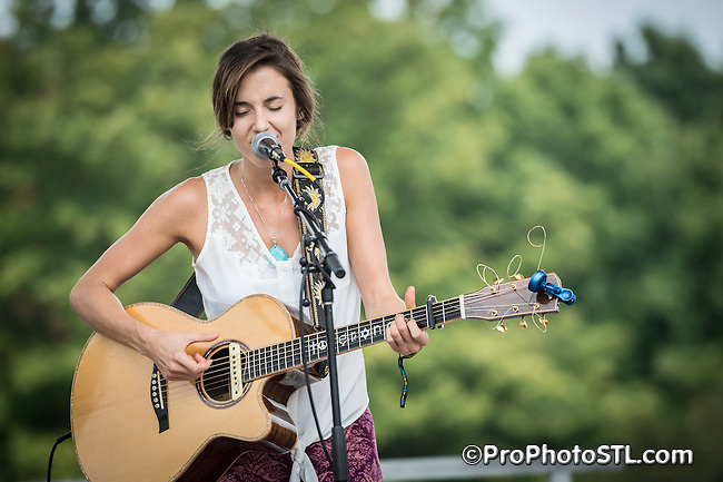 Andrea Davidson in concert at LouFest 2013 music festival in Forest Park in St. Louis, MO on Sept 8, 2013.