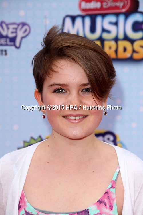 LOS ANGELES - FEB 25:  Fiona Bishop at the Radio DIsney Music Awards 2015 at the Nokia Theater on April 25, 2015 in Los Angeles, CA