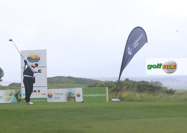 Liam Power (Galway) on the 19th tee during the Connacht Semi-Final of the AIG Barton Shield at Galway Bay Golf Club, Galway, Co Galway. 11/08/2017<br /> Picture: Golffile | Thos Caffrey<br /> <br /> <br /> All photo usage must carry mandatory copyright credit     (&copy; Golffile | Thos Caffrey)