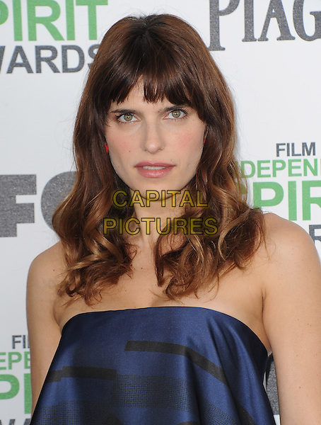 SANTA MONICA, CA, MARCH 01: Lake Bell at The 2014 Film Independent Spirit Awards held at Santa Monica Beach in Santa Monica, California, USA on March 1st, 2014.                                                                              <br /> CAP/DVS<br /> &copy;Debbie VanStory/Capital Pictures