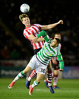 Lincoln City's Mark O'Hara vies for possession with Yeovil Town's Alefe Santos<br /> <br /> Photographer Chris Vaughan/CameraSport<br /> <br /> The EFL Sky Bet League Two - Lincoln City v Yeovil Town - Friday 8th March 2019 - Sincil Bank - Lincoln<br /> <br /> World Copyright © 2019 CameraSport. All rights reserved. 43 Linden Ave. Countesthorpe. Leicester. England. LE8 5PG - Tel: +44 (0) 116 277 4147 - admin@camerasport.com - www.camerasport.com