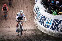 World Champion Sanne Cant (BEL/Iko-crelan) in the infamous 'Pit'<br /> <br /> CX Superprestige Zonhoven (BEL) 2019<br /> women's race