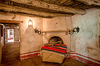 Restored rooms at Mission San Hose at the San Antonio Missions National Historic Park.