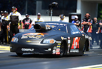 Jun. 2, 2012; Englishtown, NJ, USA: NHRA pro stock driver Erica Enders during qualifying for the Supernationals at Raceway Park. Mandatory Credit: Mark J. Rebilas-