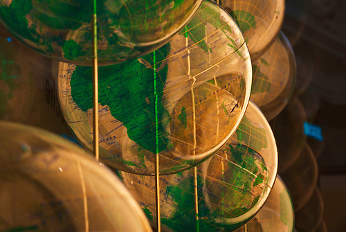 Some see through globes, background