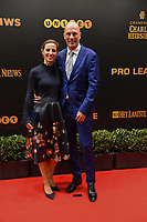 20190116 – PUURS ,  BELGIUM : Philippe Clement (R) pictured during the  65nd men edition of the Golden Shoe award ceremony and 3th Women's edition, Wednesday 16 January 2019, in Puurs Studio 100 Pop Up Studio. The Golden Shoe (Gouden Schoen / Soulier d'Or) is an award for the best soccer player of the Belgian Jupiler Pro League championship during the year 2018. The female edition is the thirth one in Belgium.  PHOTO DIRK VUYLSTEKE | Sportpix.be